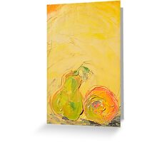 Apple and Pear now friends! Greeting Card