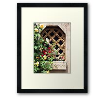 The Cottage Window Framed Print