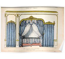 Le Garde Meuble Desire Guilmard 1839 0023 High Style Bed and Window Hanging Interior Design Poster
