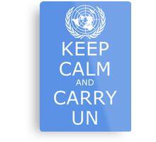Keep Calm and Carry UN Metal Print