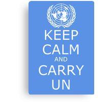 Keep Calm and Carry UN Canvas Print