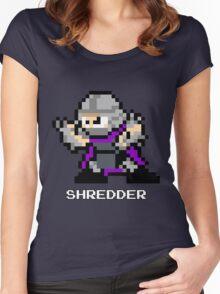 8-Bit TMNT Shredder Women's Fitted Scoop T-Shirt