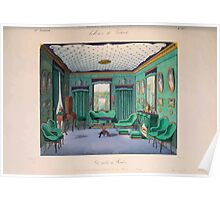 Le Garde Meuble Desire Guilmard 1839 0057 High Style Bed and Window Hanging Interior Design Poster