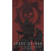 Gears of War Game Poster Photographic Print