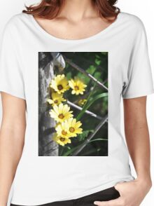Summery Yellow Flowers Women's Relaxed Fit T-Shirt