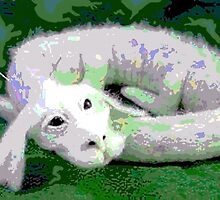 Falcor Resting from Flight by Crayle