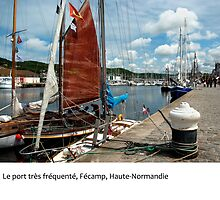 The busy working port of Fécamp, Normandy by macondo