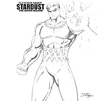 Stardust The Super Wizard – Pencil Sketch Photographic Print