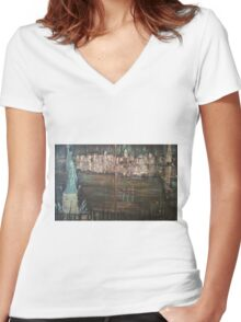 New York Harbour Women's Fitted V-Neck T-Shirt