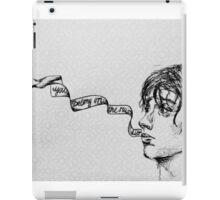 Julian Casablancas - Illustration (Electricityscape) iPad Case/Skin