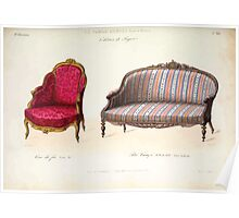 Le Garde Meuble Desire Guilmard 1839 0189 High Style Seat Furniture Interior Design Poster