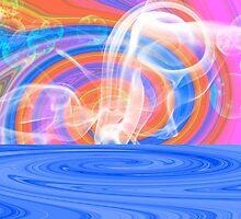 Drama Background Pastel Duvet by GolemAura