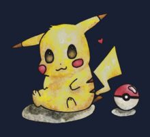 Cute Pikachu Watercolor Kids Clothes