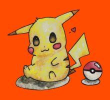 Cute Pikachu Watercolor Kids Clothes