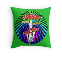 Haight Ashbury - Circle Throw Pillow