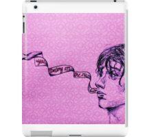 Julian Casablancas - Illustration (Electricityscape) PINK iPad Case/Skin