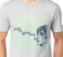 Julian Casablancas - Illustration (Electricityscape) BLUE Unisex T-Shirt