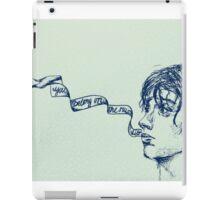Julian Casablancas - Illustration (Electricityscape) BLUE iPad Case/Skin