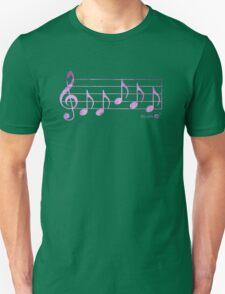 NAMASTE - Words in Music - Fuchsia Pink -  V-Note Creations Unisex T-Shirt