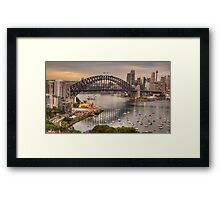 The Coathanger - Sydney Harbour Bridge, Sydney Harbour, Australia - The HDR Experience Framed Print
