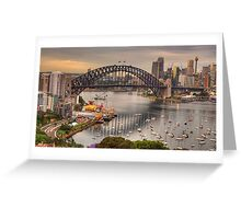 The Coathanger - Sydney Harbour Bridge, Sydney Harbour, Australia - The HDR Experience Greeting Card