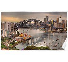 The Coathanger - Sydney Harbour Bridge, Sydney Harbour, Australia - The HDR Experience Poster