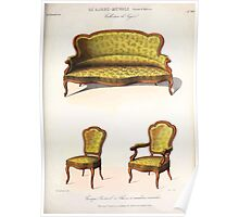 Le Garde Meuble Desire Guilmard 1839 0241 High Style Seat Furniture Interior Design Poster