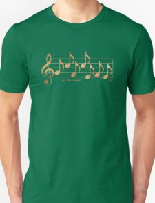 NAMASTE - Words in Music - Rust -  V-Note Creations Unisex T-Shirt