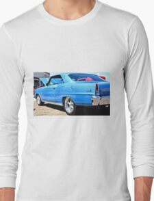 Blue Chevy Nova Hot Rod Long Sleeve T-Shirt