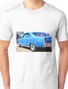 Blue Chevy Nova Hot Rod Unisex T-Shirt
