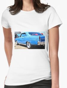 Blue Chevy Nova Hot Rod Womens Fitted T-Shirt