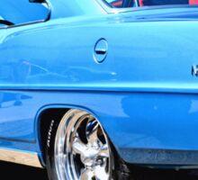 Blue Chevy Nova Hot Rod Sticker