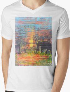 Sunset Walk Mens V-Neck T-Shirt