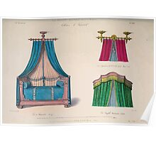 Le Garde Meuble Desire Guilmard 1839 0059 High Style Bed and Window Hanging Interior Design Poster