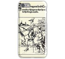 The Wonder Clock Howard Pyle 1915 0249 The Three Rogues Lend Casper Sundry Things That He May Go to the King's Castle iPhone Case/Skin