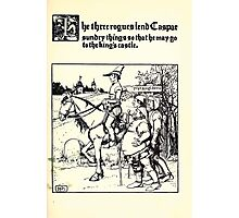 The Wonder Clock Howard Pyle 1915 0249 The Three Rogues Lend Casper Sundry Things That He May Go to the King's Castle Photographic Print