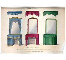 Le Garde Meuble Desire Guilmard 1839 0083 High Style Bed and Window Hanging Interior Design Poster