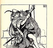 The Wonder Clock Howard Pyle 1915 0177 The Young King Foes Down Into The Pit and Bringet Up the Maiden by wetdryvac