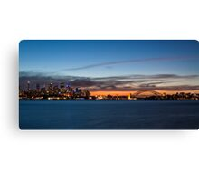 cloud streaks over Sydney Canvas Print