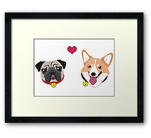 Doggy Love Framed Print