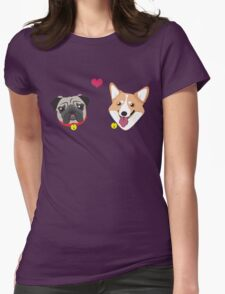 Doggy Love Womens Fitted T-Shirt