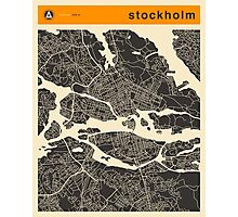 STOCKHOLM MAP Photographic Print