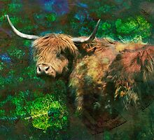 Teddy Bear Cow by Russell Fry