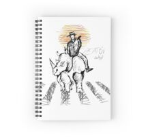 Pedestrian and Rhino Spiral Notebook