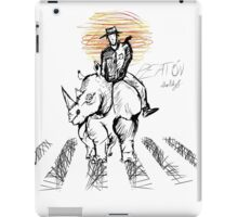 Pedestrian and Rhino iPad Case/Skin
