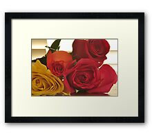 Four Colors of Roses, As Is Framed Print