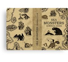 Sea Monsters Survival Guide Canvas Print