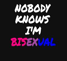 Nobody Knows I'm Bisexual Women's Fitted Scoop T-Shirt