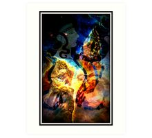 When Bull Men Lived In Labyrinths Art Print