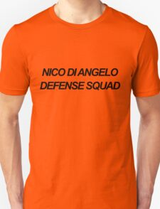 Nico Di Angelo Defense Squad Unisex T-Shirt